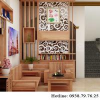 dùng lam gỗ để trang trí, phòng khách sẽ mang vẻ đẹp hiện đại và tinh tế